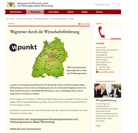 Screenshot Homepage Wpunkt